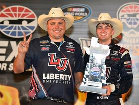 WILLIAM BYRON SEALS SECOND CAREER VICTORY AT TEXAS
