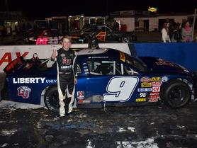 Liberty-Sponsored Racecar Driver Takes Second in his First Race