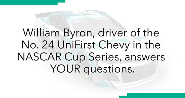 UniFirst NASCAR Driver William Byron Answers Fan Questions (5:12)