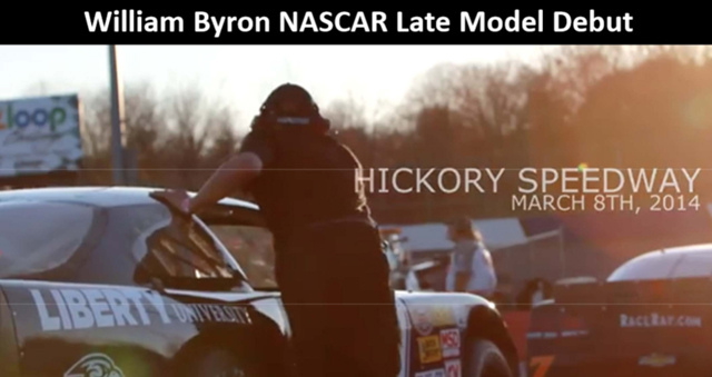 William Byron NASCAR Late Model Debut - March 8, 2014 (2:45)